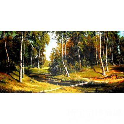 国画;油画;书法;名家 王献锋 - 王献锋 仿俄罗斯风景 类别: 油画x